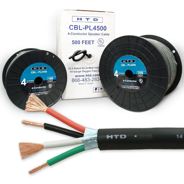 Htd 4 conductor behind the wall speaker cable pinit keyboard keysfo Gallery
