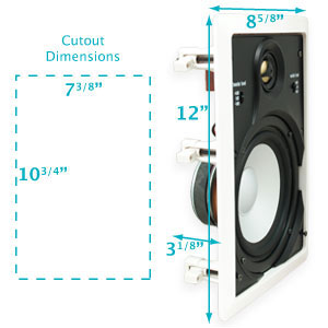 hdw65 high definition inwall speakers