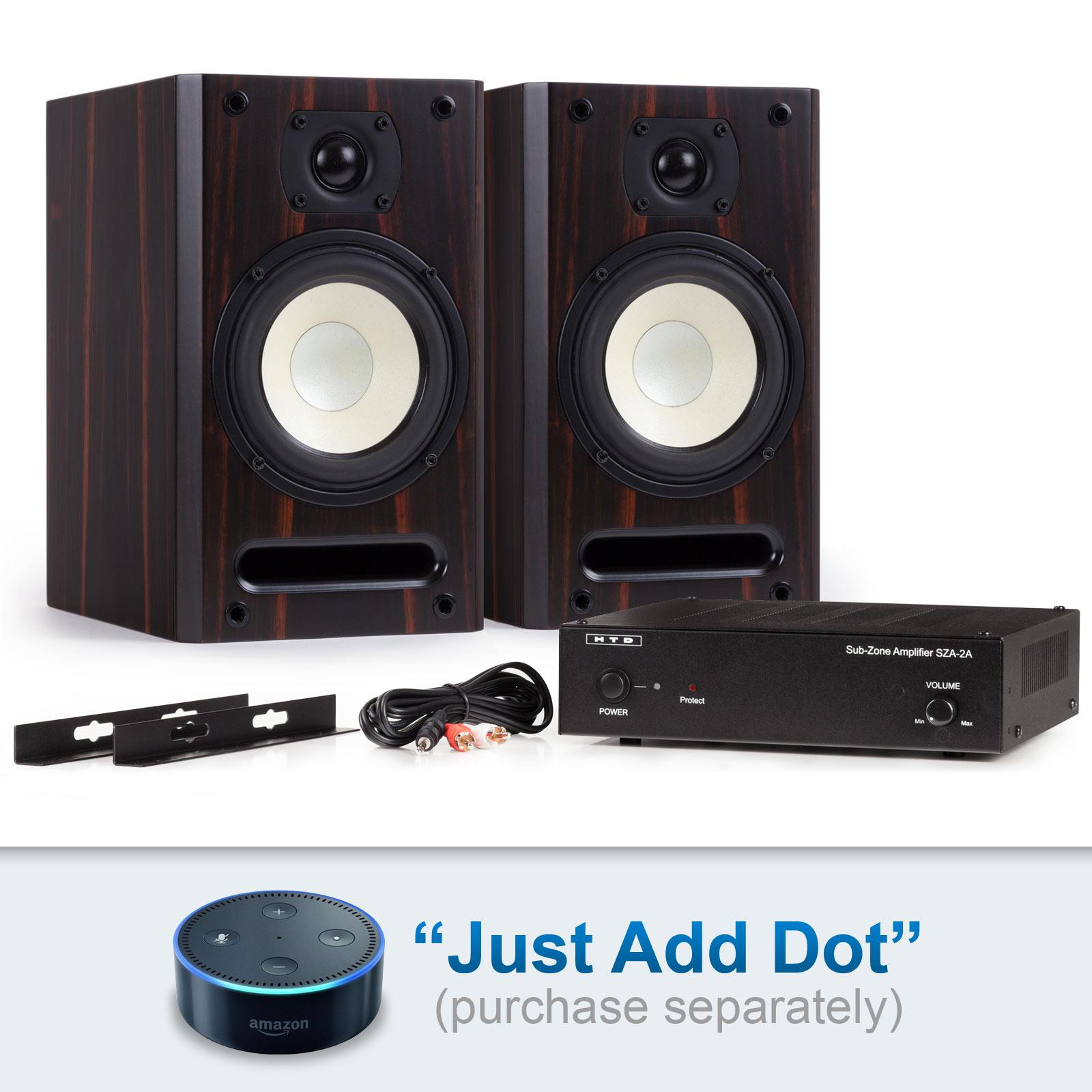 smart stereo kits just add dot wall mount speaker brackets