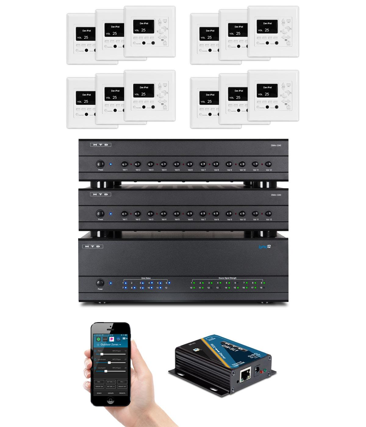 Complete Lync System for 12 Zones