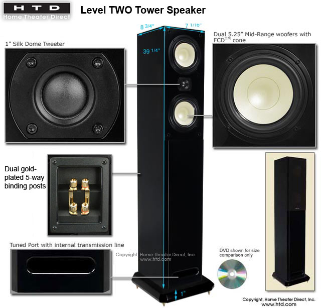 Htd Level Two Tower Speakers