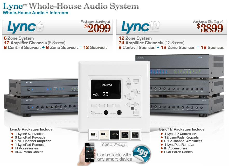 Introducing the lync whole house audio system for Home audio system design